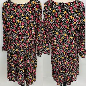 Old Navy Black Floral Plus Size Dress XXL